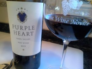 Purple Heart wine makes a great impression with its velvety smooth dark cherry flavors.