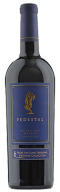 Pedestal Merlot Long Shadows Winery 2013, Walla Walla -- A U.S. project of famous Bordeaux winemaker Michel Rolland, Pedestal's blueberry and spice decadence hails from small but precise amounts of four other red varietals. A mesmerizing, deep purple color.