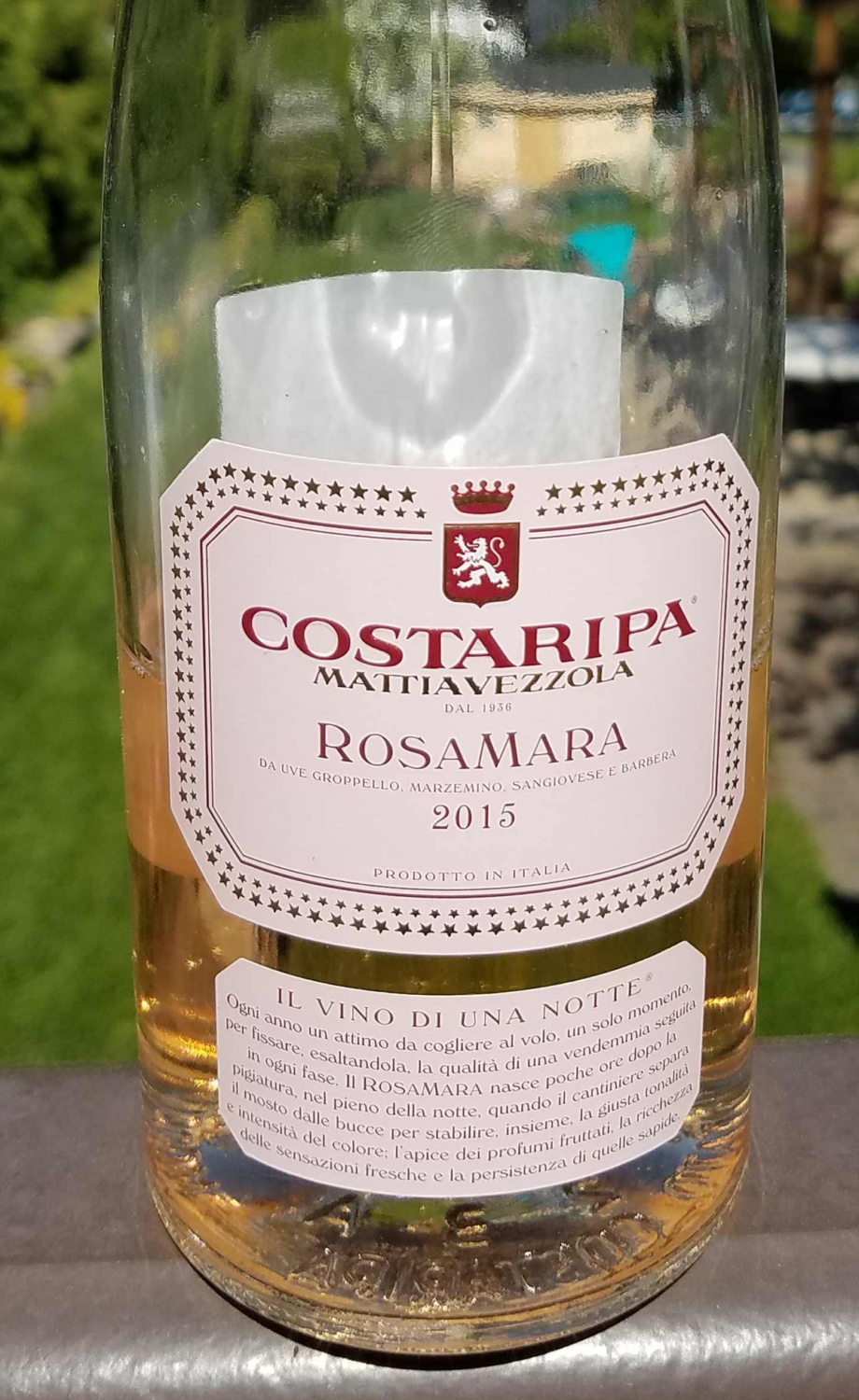 Costaripa Rosamara Chiaretto from the Lake Garda region in Lombardia