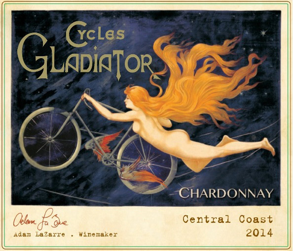 "The label for Cycles Gladiator Chardonnay is from a bicycle ad poster created in Paris in 1895 to attract women buyers. In 2009, the Alabama Beverage Control Board banned the label — and the wine — from sale because of its ""immodest"" characterization."